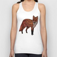 snow Tank Tops featuring Red Fox by Ben Geiger