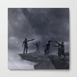 TWD Zombie Cliffhanger Metal Print