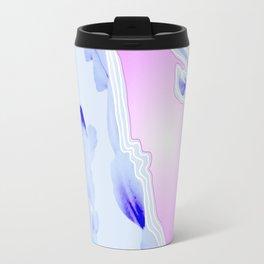 Blue Agate Slice Cacti Pattern Travel Mug