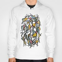 kandinsky Hoodies featuring Geometric Abstract Watercolor Ink by Ashley Grebe