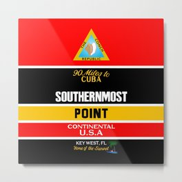 Southern Most Point, Key West, Florida/サザン・モスト・ポイント Metal Print