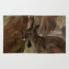 Vintage Kangaroo Painting (1909) Rug