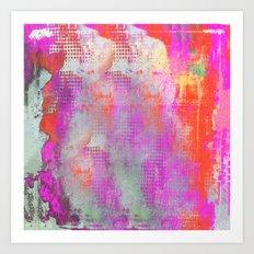 colorful abstract artwork original painting Art Print
