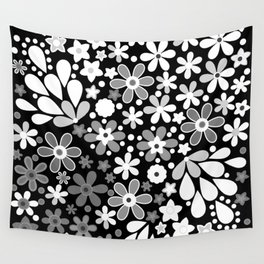 Retro. Floral motifs 4 Wall Tapestry