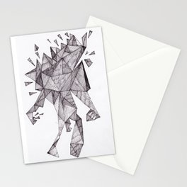 Robot trapped in triangles Stationery Cards