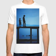 WHEN I'M FEELING BLUE MEDIUM Mens Fitted Tee White