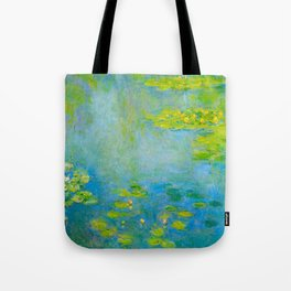Claude Monet Impressionist Landscape Oil Painting Water Lilies Tote Bag