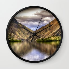 Snake River in Hells Canyon Wall Clock