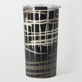 metallic grid Travel Mug