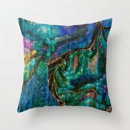 A  Zazzle Of an Abstract by Sherri Of Palm Springs Throw Pillow