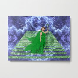 Green Goddess Metal Print