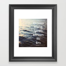 Wherever She Goes Framed Art Print