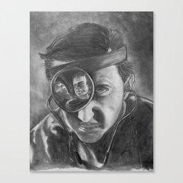 Basil Rathbone as Frankenstein Canvas Print