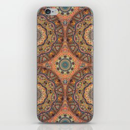 Vintage mandala pattern with floral elements iPhone Skin