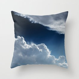 Sky, clouds and lights. Throw Pillow