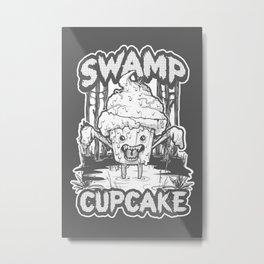 SWAMP CUPCAKE — Halloween vintage horror 80' Metal Print