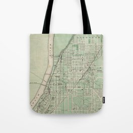 Vintage Map of Lafayette Indiana (1876) Tote Bag