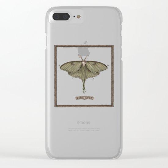 Luna Moth Clear iPhone Case