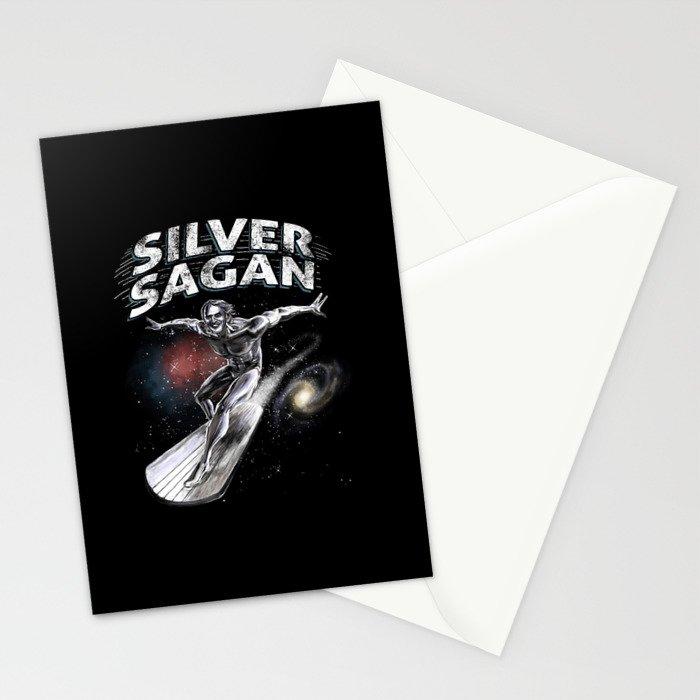 Silver Sagan Stationery Cards