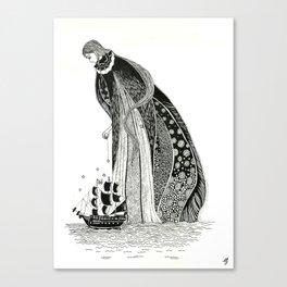 Gothic Sea Goddss Canvas Print