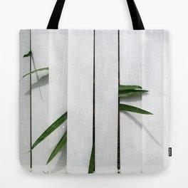 Green behind Tote Bag