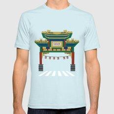 Chinatown  Mens Fitted Tee Light Blue MEDIUM