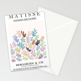 Henri matisse modern coral mininaml art print Stationery Cards