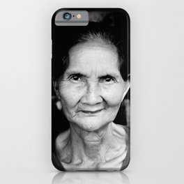 Balinese woman - Black and White - portrait - travel photography iPhone Case