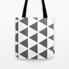 Sleyer Dark Grey on White Pattern Tote Bag