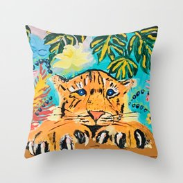 Hermosa Tigre  Throw Pillow