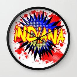 Indiana Comic Exclamation Wall Clock