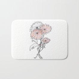 flower illustration Bath Mat