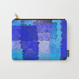 Blue Grunge Carry-All Pouch
