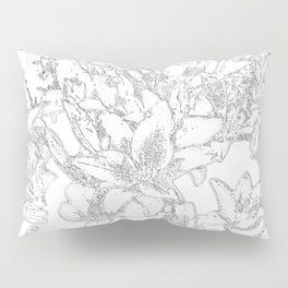 Large flowers pencil effect Pillow Sham