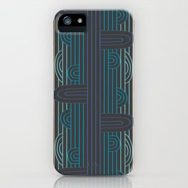 art deco stripe iPhone Case
