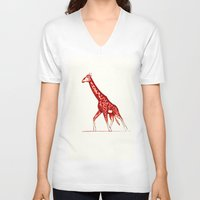 blush V-neck T-shirts featuring Blush by Alex Spurrier