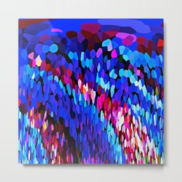 Blue Waves of Rain  #1 Metal Print