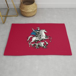 Flag of moscow Rug
