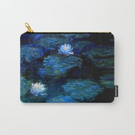 monet water lilies 1899 blue teal Carry-All Pouch