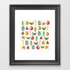 Christmas!! Pattern! (Holidays) Framed Art Print