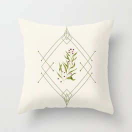 Minimal Very Merry #society6 #xmas Throw Pillow