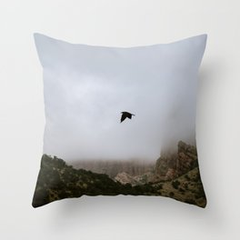 Free as a bird flying through the mountains, Big Bend - Landscape Photography Throw Pillow