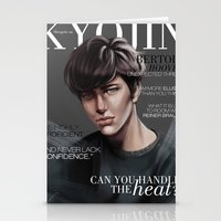 snk Stationery Cards featuring SnK Magazine: Bertolt by putemphasis
