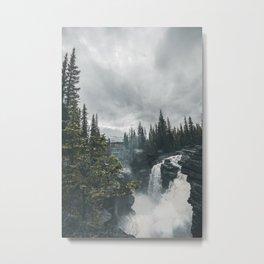 Athabasca Falls Alberta Metal Print