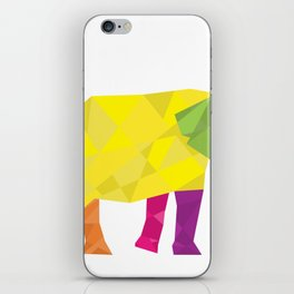 Elephant in polygon style vector iPhone Skin