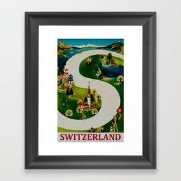 Vintage Switzerland Travel Framed Art Print