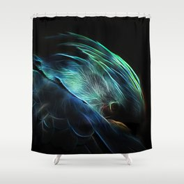 Fractal macaw Shower Curtain