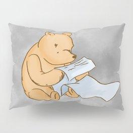 Pooh Reading Grey Pillow Sham