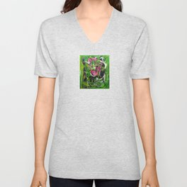 Sexual Energy (oil on canvas) Unisex V-Neck