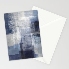 Marine on Gray Abstract Stationery Cards